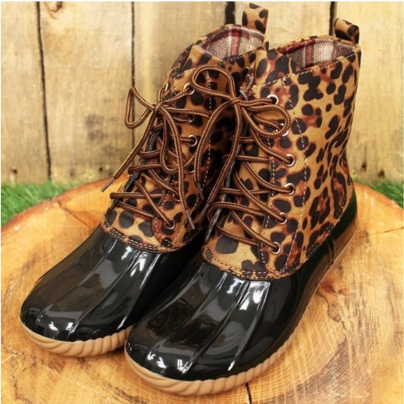 Kara and Kate Shoes - Leopard Print Duck Boots